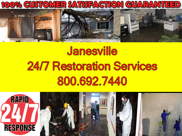 janesville fire smoke water storm repairs
