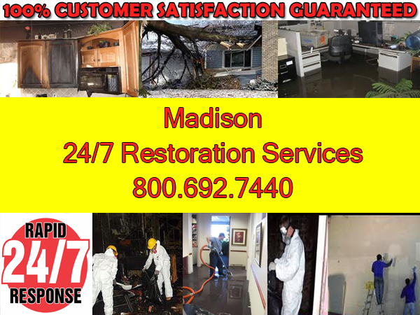 madison fire wind water flood restoration