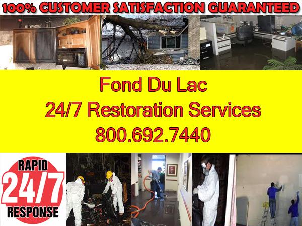 fond du lac fire water storm damage