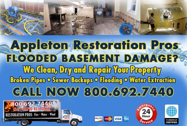 appleton flooded basement cleanup