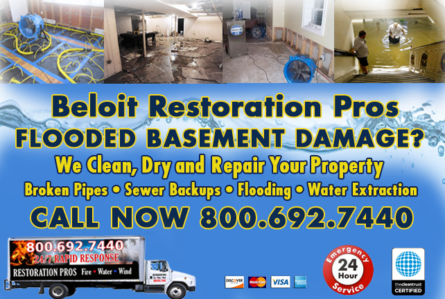 Beloit flooded basement cleanup