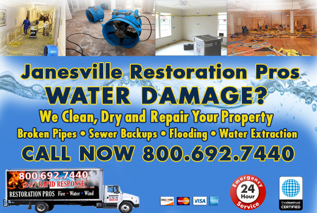 Janesville water damage restoration