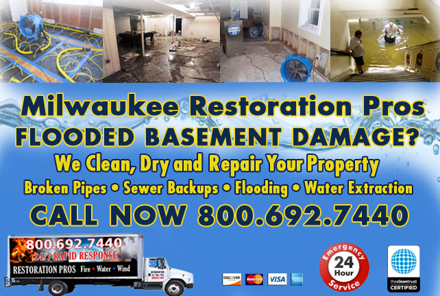 Milwaukee flooded basement cleanup