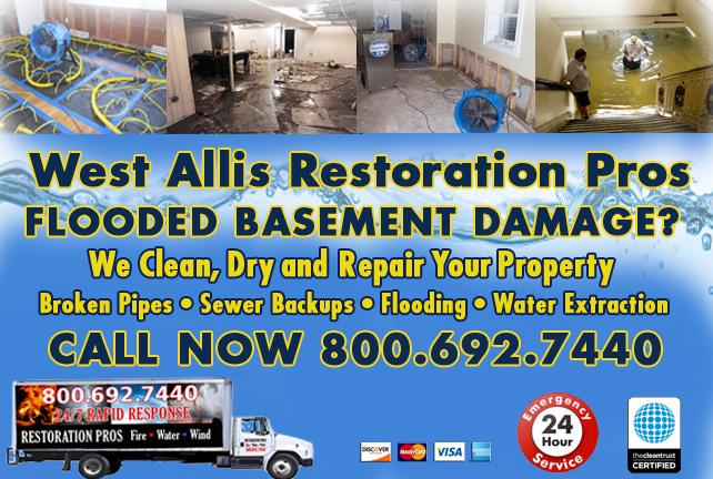 West Allis flooded basement cleanup